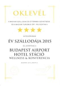 Hotel Stáció Wellness & Conference**** - Év Szállodája 2015