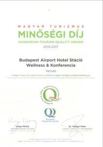 Hotel Stáció Wellness & Conference**** - Turizmus Minőségi Díj