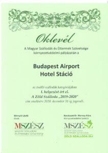 Hotel Stáció Wellness & Conference**** - Zöld Szálloda Díj