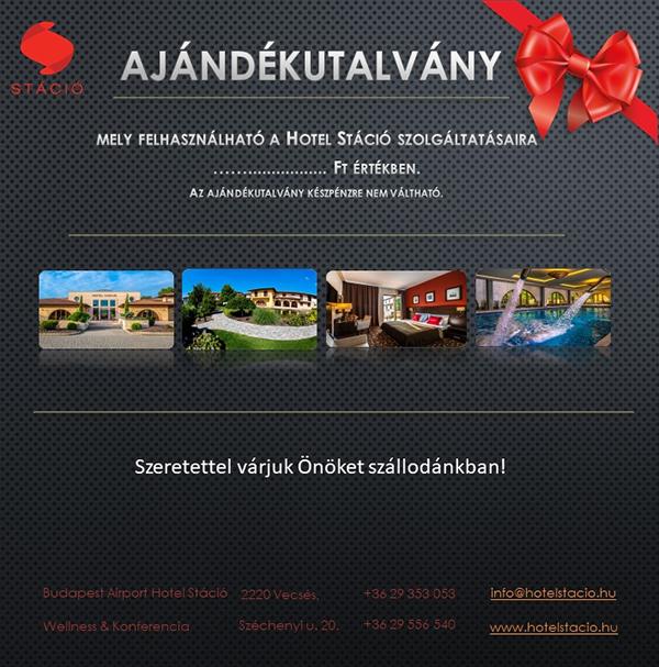 Hotel Stáció Wellness & Conference**** - Online ajándékutalvány vásárlás